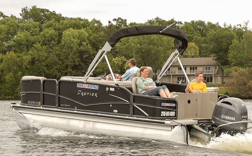 Performance tritoon rentals brainerd lakes area mn for Fishing boat rental mn